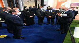 زيارة الرئيس عبد الفتاح السيسي لجناح اتصالات مصر بالمعرض